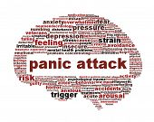 stock photo of panic  - Panic attack icon design isolated on white - JPG