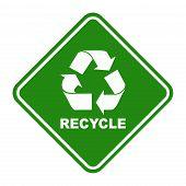 Green recycling logo