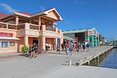 Cruise Ship Passengers Shopping In Belize City