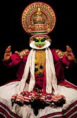Kathakali performer in positive role, India