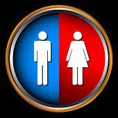 Mann und Frau-Symbol