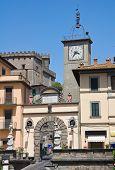 Porta romana. Soriano nel Cimino. Lazio. Italy.