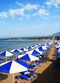 Sunbeds At Crete Resort Vertical