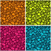 Seamless Patterns with Social Media Icons
