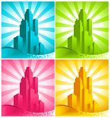Colorful Skyscrapers