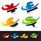 Swoosh Currency Symbols