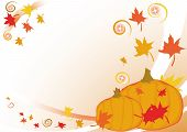 Autumnal Background With Leaves