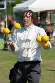 Juggler Performs At Spring Festival