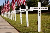 War Dead Honored With Crosses Along Highway For Memorial Day