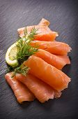foto of blubber  - smoked salmon - JPG