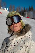 Snowboarder On Ski Slopes