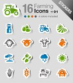 Stickers - Agriculture and Farming icons