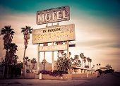 picture of motel  - Roadside motel sign  - JPG