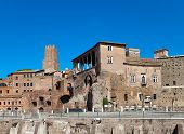 Italy. Rome. Ruins of a forum of Trajan