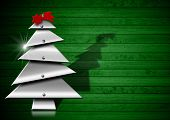 Metallic And Stylized Christmas Tree