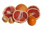 Grapefruits And Mandarines.