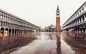 picture of piazza  - Piazza San Marco with Campanile and Doge Palace - JPG