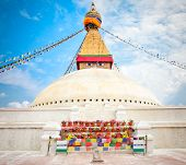 Boudhanath Stupa or Bodnath Stupa  is one of the most remarcable symbols of Buddism is the largest stupa in Nepal