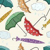 Seamless monsoon season background.