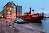 HELSINKI, FINLAND - JANUARY 12: Old lightship Relandersgrund in Helsinki, Finland on January 12, 201