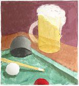 Bar Scene Watercolor