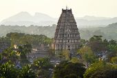 stock photo of karnataka  - Virupaksha Temple in Hampi - JPG