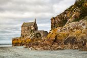 foto of chapels  - The small chapel on the coast near the Mont Saint Michel in Brittany - JPG