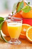 Glass Of Fresh Orangejuice