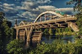 stock photo of rogue  - This is a photo of one of the Bridges crossing over the Rogue River in Grants Pass, Oregon