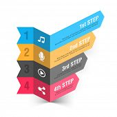 Modern music theme infographics template. Vector.
