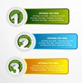 1 2 3 grass option banner set