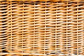 Wicker basket wall
