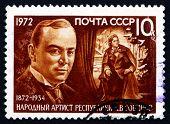 Postage Stamp Russia 1972 Leonid Sobinov, Opera Singer