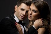 pic of intimacy  - Fashion shot of a young beauty couple - JPG