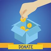 Vector Donate Concept
