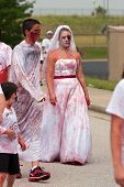 Bloody Zombie Bride Walks In Odd 5K Race