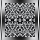 Abstract Metallic Pattern In A Silver Framework