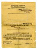 1950's British army enlistment form