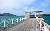 The Beautiful Old Bridge On Sri Chang Island At Sriracha Ampor ,chonburi Province,thailand