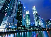 Singapore night with river