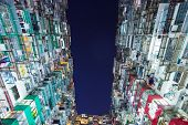 Packed building in Hong Kong