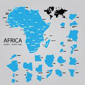 Map of Africa. Vector