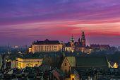 Poland, Krakow. Wawel Castle And Wistula . Krakow Poland.