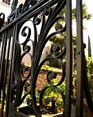 picture of ironworker  - Scrolled Ironwork Fence in Downtown Charleston - JPG