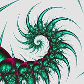Green punk fractal spiral