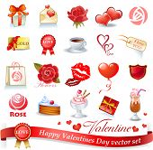 Happy Valentines Day vector set