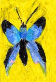 Child's painting of a butterfly