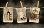 Fotografias de família Vintage autênticas