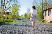 Girl On A Walk