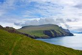 pic of faroe islands  - Remote island of Mykines Faroe Islands .